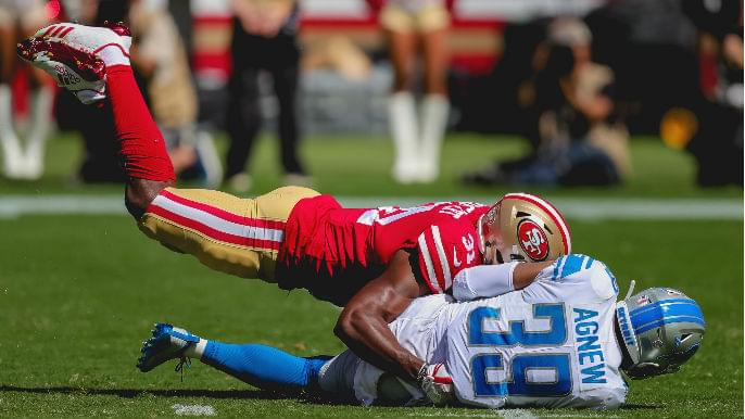 Raheem Mostert is starring in his role, one bone-crunching tackle at a time