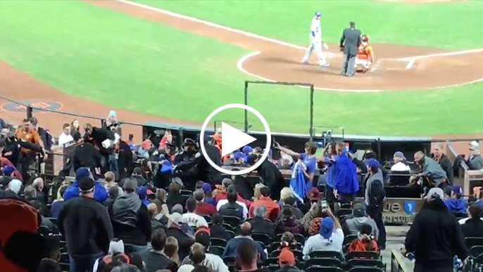 Group of Dodgers fans escorted out of AT&T Park by police