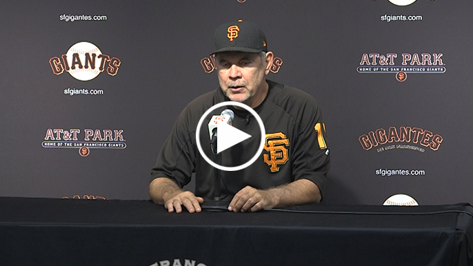 Bochy updates Slater injury, says he thinks he'll be ready by spring