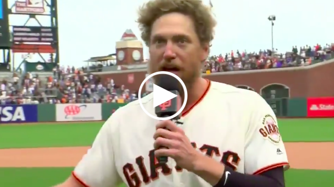 Hunter Pence thanks San Francisco in emotional speech to Giants fans