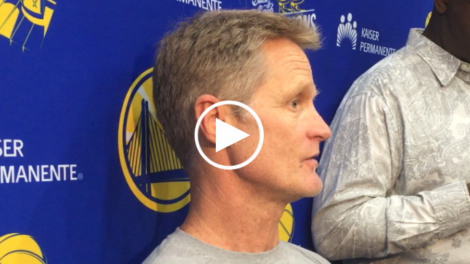 Steve Kerr discusses Draymond's knee soreness, Warriors' options if McCaw leaves