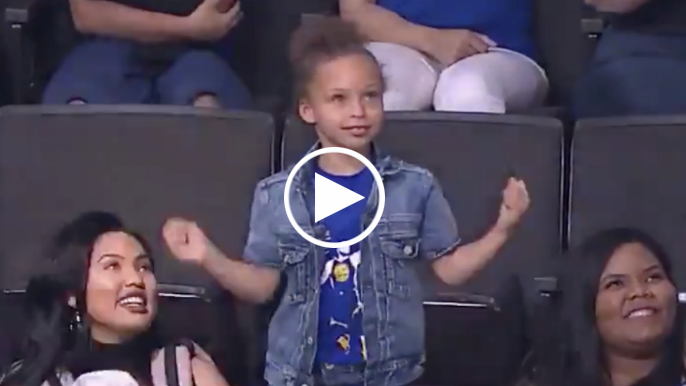 Riley Curry shows off dance moves during Warriors-Lakers preseason finale