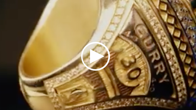Warriors championship ring throws slight shade on sweep of Cavs