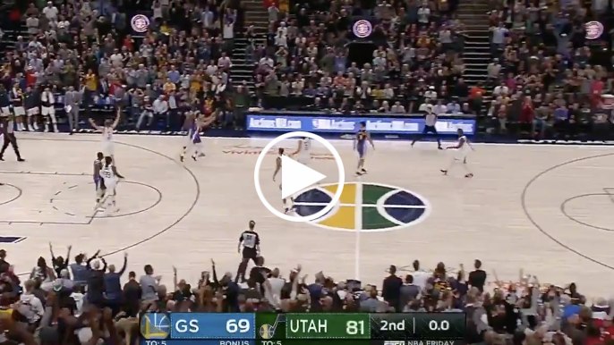 Stephen Curry hits 75-footer after halftime buzzer