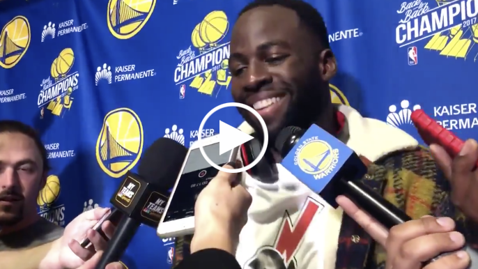 Draymond on Jerebko game-winner: 'My favorite part was him yelling in their bench's face'