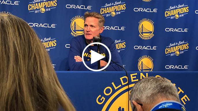 Steve Kerr discusses death of Willie McCovey