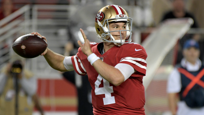 a6520c382 Nick Mullens to start on Monday night vs. Giants