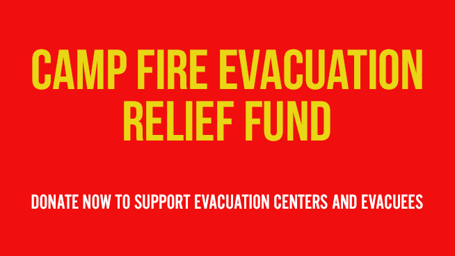 Camp fire evacuation relief fund