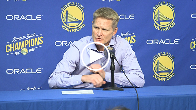 Kerr on losing streak: 'We have to look at what's in front of us now'