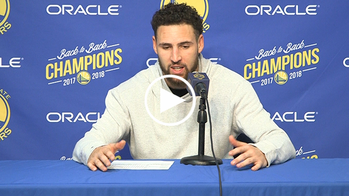 Klay says he's trying to play with as much passion as possible in final season at Oracle