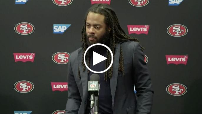 Richard Sherman offers messages of encouragement, accountability to locker mate Reuben Foster