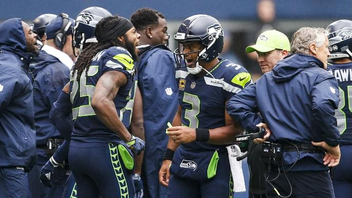 Richard Sherman says he has no relationship with Russell Wilson, quarterback showers him with praise
