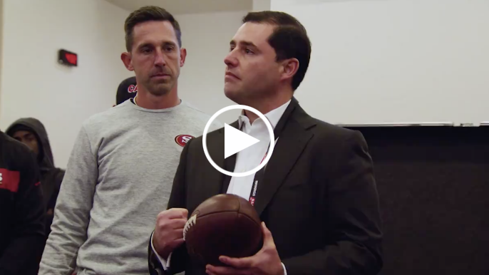 Jed York speaks to 49ers following win over Broncos, two days after brother's passing