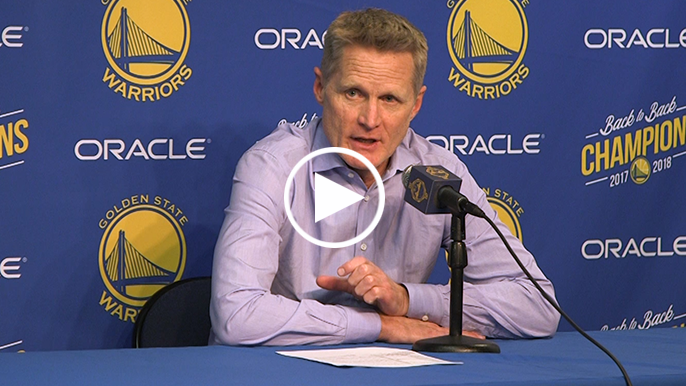 Kerr admits to 'reality' of low-energy games as Warriors defend title