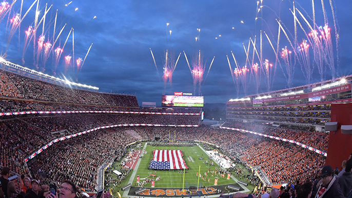 Levis Stadium Capacity >> Levi S Stadium Receives Rave Reviews During Monday S National