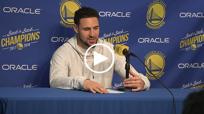 Klay Thompson gets sentimental about Oracle at halfway point of season