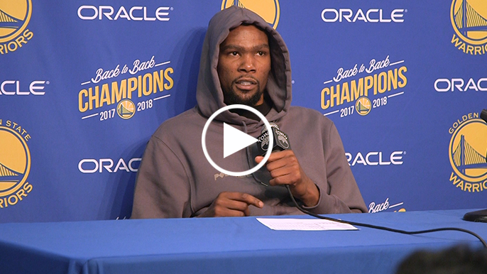 Kevin Durant relives iconic Baron Davis dunk