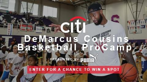 Enter for your chance to win a spot at the DeMarcus Cousins Basketball Pro Camp