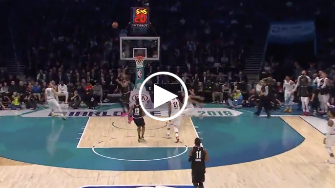 Announcers around the world go crazy reacting to Steph's All-Star Game lob to Giannis