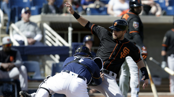 Schulman on Giants outfield: 'I wouldn't say things are coming together.'