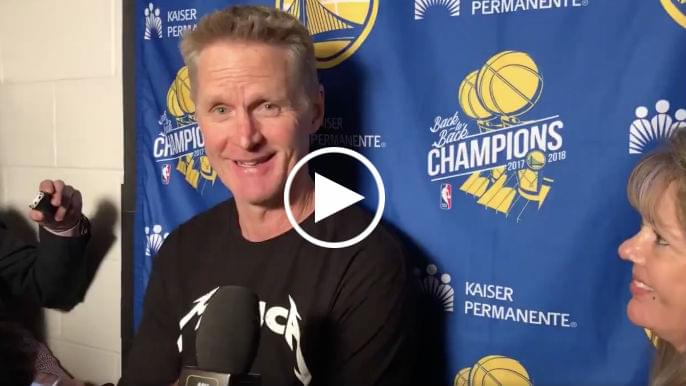Steve Kerr said Andrew Bogut 'burst out laughing' when told he's starting vs. Spurs