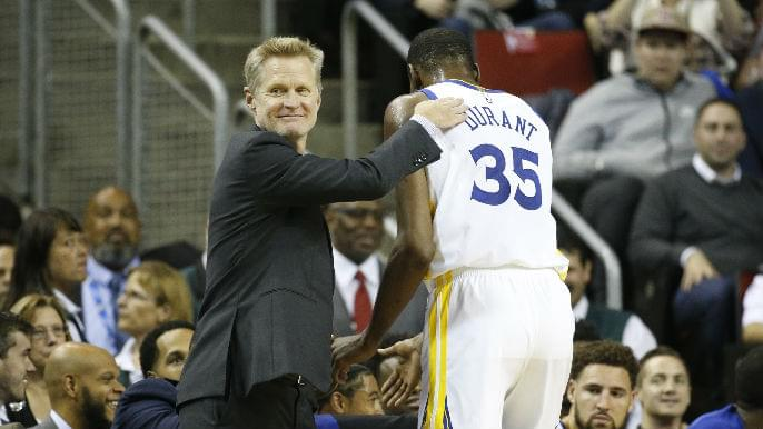 Kerr on Durant coping with tragedy: 'I know he will be playing with a heavy heart'