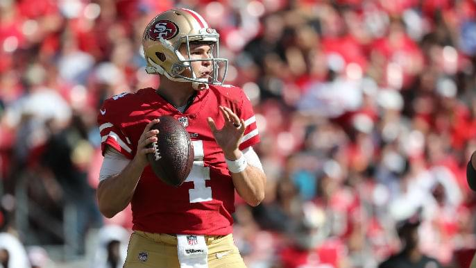 Jimmy Garoppolo's and Nick Mullens' numbers are staggeringly similar