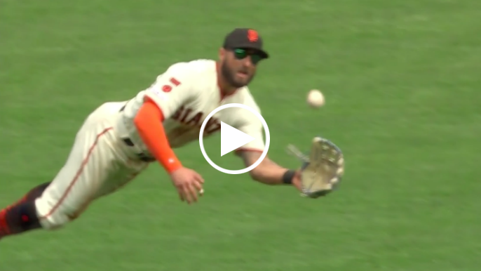Kevin Pillar makes amazing diving catch to limit damage with bases loaded