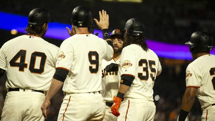 Pillar's grand slam wasted as Giants blow five-run lead