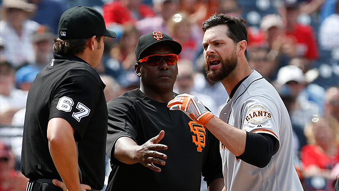 Bochy, Belt ejected as Giants lose 4-2 to Nationals