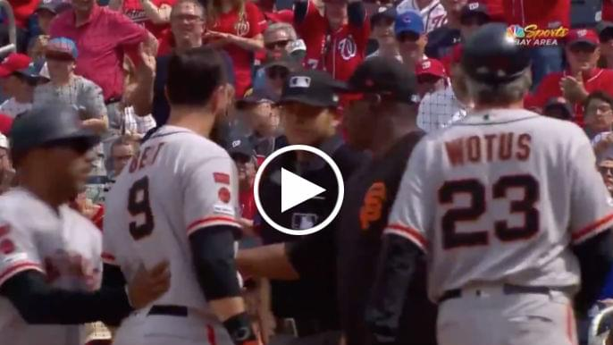 Brandon Belt sounds off after being ejected