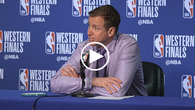 Terry Stotts unimpressed with question about defending Stephen Curry