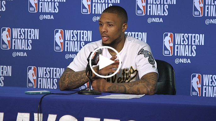 Lillard says he's 'recognizing people left and right' in the stands at Oracle Arena