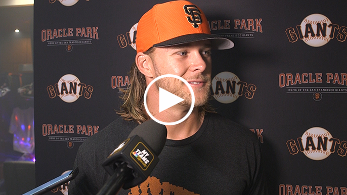 Anderson credits Bumgarner's batting advice after two-hit debut