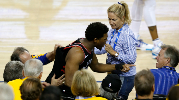 Warriors levy substantial suspension, fine for part-owner who pushed Kyle Lowry