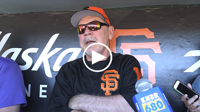 Bruce Bochy: Giants are 'working on' moving bullpen mounds