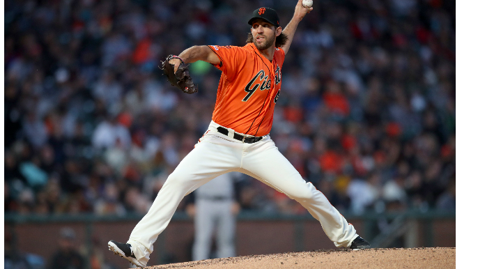 Baggarly: Madison Bumgarner threw bullpen session with wife before game vs. Mets