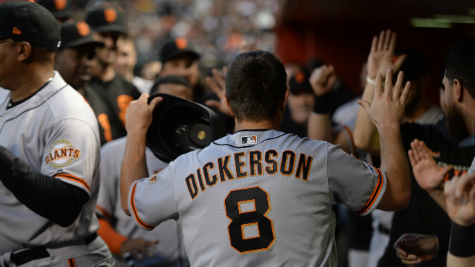 Dickerson continues sublime start to Giants tenure in series win over Diamondbacks
