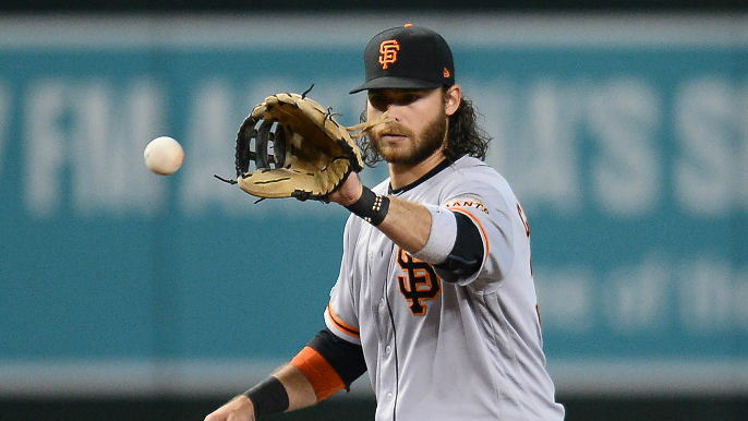 Crawford out as Giants' lineup misses some Brandons