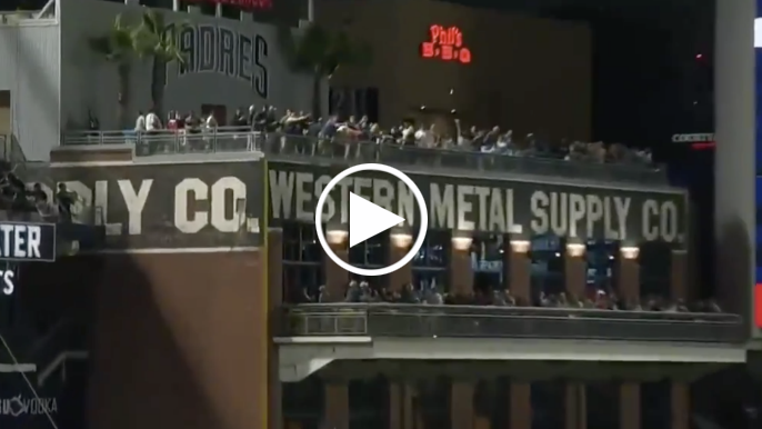 Evan Longoria smashes second home run of game off top of building at Petco Park