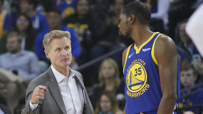 Kevin Durant 'wasn't too fond of Steve Kerr at all' [report]