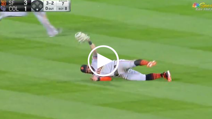 Kevin Pillar robs Rockies, saves Giants with incredible catch