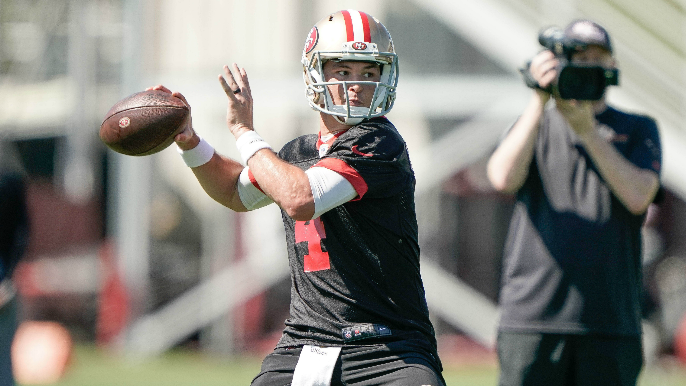 49ers Practice Report: Garoppolo, Mullens rattle off touchdown drives in under two-minute drills