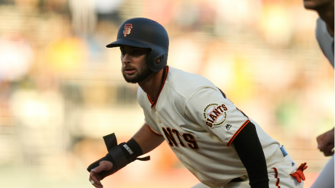 Outfielder latest sent down as Giants keep shuffling