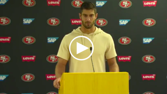 Jimmy Garoppolo addresses poor return to action, Shanahan provides postgame injury recap
