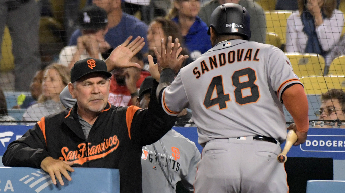 Giants trying to sneak in one last at-bat for Pablo Sandoval and Bochy