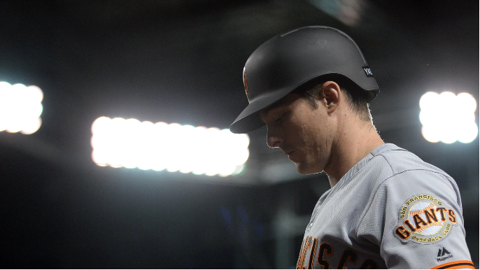 Mike Yastrzemski not too concerned after 'painful' hit by pitch