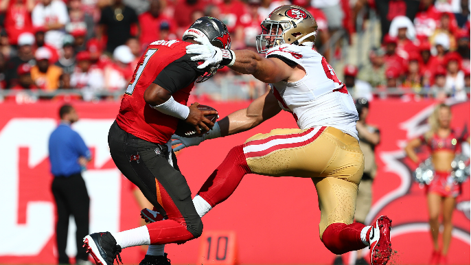 49ers Notebook: Bosa sits with sore ankle, Garoppolo acknowledges errant throws