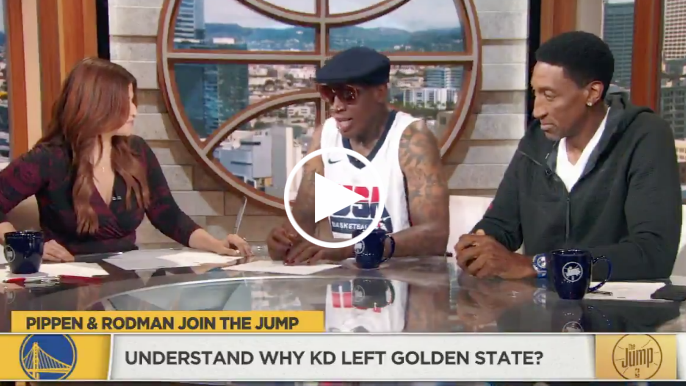 Dennis Rodman calls Kevin Durant 'selfish' for his comments about Warriors