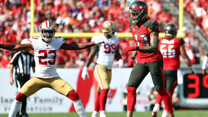 The 49ers' defense played so well that Mike Evans thought Bucs' offense was compromised